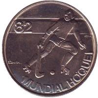 Чемпионат мира по хоккею на роликах. Монета 2,5 эскудо. 1982 год, Португалия.