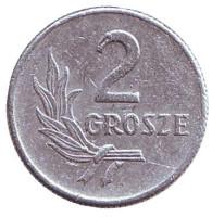 Монета 2 гроша. 1949 год, Польша. Состояние - F.