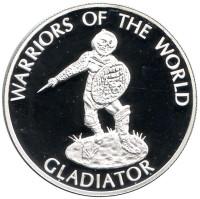 Гладиатор. Воины мира. Монета 10 франков. 2010 год, Конго.