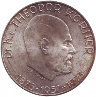 100-летие со дня рождения Теодора Кёрнера. Монета 50 шиллингов. 1973 год, Австрия.
