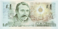 Роберт Льюис Стивенсон. Банкнота 1 фунт. 1994 год, Шотландия.