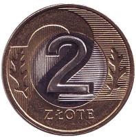 Монета 2 злотых. 2017 год, Польша.