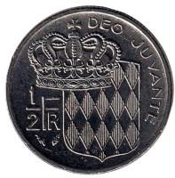 Монета 1/2 франка. 1979 год, Монако.