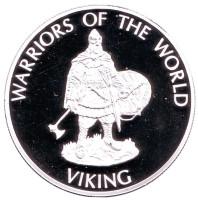 Викинг. Воины мира. Монета 10 франков. 2009 год, Конго.