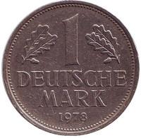 Монета 1 марка. 1978 год (D), ФРГ. Из обращения.