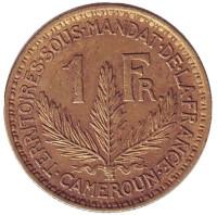 Монета 1 франк. 1926 год, Камерун.