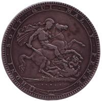 Георг III. Монета 1 крона. 1819 год, Великобритания.