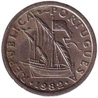 Монета 2,5 эскудо. 1982 год, Португалия.
