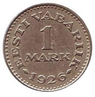 Монета 1 марка. 1926 год, Эстония.