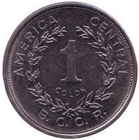Монета 1 колон. 1982 год, Коста-Рика.