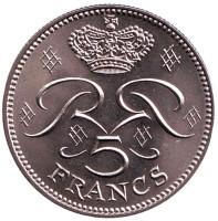 Монета 5 франков. 1982 год, Монако. UNC.