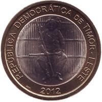 100-летие восстания Боавентура Мануфахи. Монета 100 сентаво. 2012 год, Восточный Тимор.
