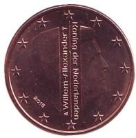 Монета 1 цент. 2015 год, Нидерланды.