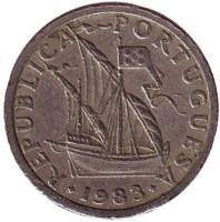 Монета 2,5 эскудо. 1983 год, Португалия.