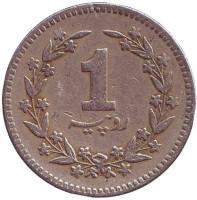 Монета 1 рупия. 1988 год, Пакистан.