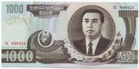 Банкнота 1000 вон. 2002 год, Северная Корея.