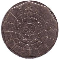 Роза ветров. Монета 20 эскудо. 1988 год, Португалия.