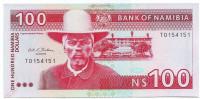 Хендрик Витбой. Банкнота 100 долларов. 1993 год, Намибия.