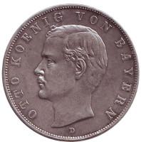 Монета 3 марки. 1908 год, Бавария.