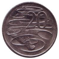 Утконос. Монета 20 центов. 2015 год, Австралия.