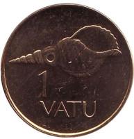 Ракушка. Монета 1 вату, 2002 год, Вануату.