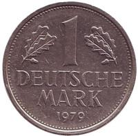 Монета 1 марка. 1979 год (J), ФРГ. Из обращения.