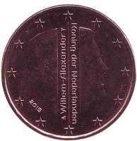 Монета 5 центов. 2015 год, Нидерланды.