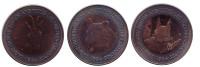 Белка, Медведь, Горный козёл. Набор из 3-х монет номиналом 2 динера. 1984 год, Андорра.