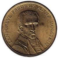 Адольф Гольштейн. Памятная медаль. 1960 год, Дания.