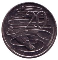 Утконос. Монета 20 центов. 2017 год, Австралия.