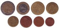 Набор монет евро Франции. (8 шт.), 1999 год.
