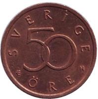 Монета 50 эре. 2003 год, Швеция.