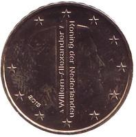 Монета 10 евроцентов. 2015 год, Нидерланды.