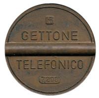 Телефонный жетон. 7203. Италия. 1972 год. (Отметка: IPM)