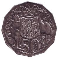 Монета 50 центов. 2009 год, Австралия.