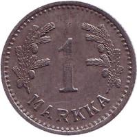 1 марка. 1943 год (железо), Финляндия.