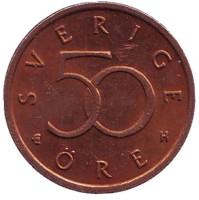 Монета 50 эре. 2004 год, Швеция.