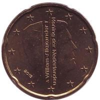 Монета 20 евроцентов. 2015 год, Нидерланды.