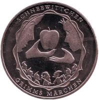 """Белоснежка. """"Сказки братьев Гримм"""". Монета 10 евро. 2013 год, Германия."""