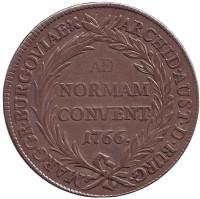 Мария Терезия. Монета 1 талер. 1766 год, Австрия.