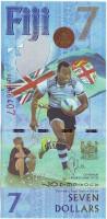 Олимпийская сборная Фиджи по регби-7. Чемпионы Олимпиады 2016. Банкнота 7 долларов. 2016 год, Фиджи.