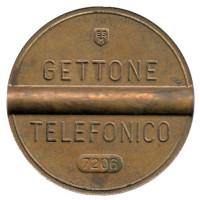 Телефонный жетон. 7206. Италия. 1972 год. (Отметка: ESM)