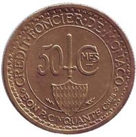 Монако 50 сантимов. 1926 год, Монако.