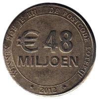 48 Miljoen. Postcode Loterij. Почтовая лотерея. Лотерейный жетон. 2012 год, Нидерланды.