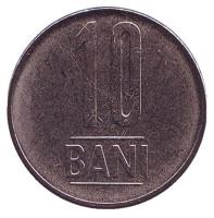 Монета 10 бани. 2012 год, Румыния. UNC.