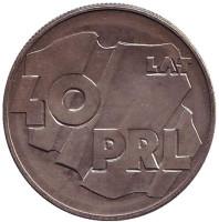 40 лет образования Польской Народной Республики. Монета 100 злотых, 1984 год, Польша.