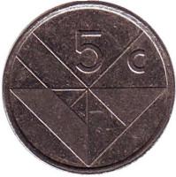 Монета 5 центов. 1988 год, Аруба.