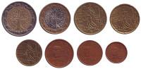 Набор монет евро Франции. (8 шт.), 2001 год.