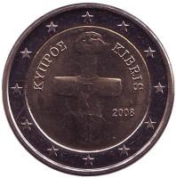 Монета 2 евро. 2008 год, Кипр.
