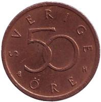 Монета 50 эре. 2005 год, Швеция.